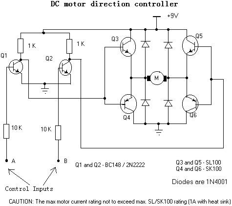 Puente H para cambio de giro de motor DC Contro10