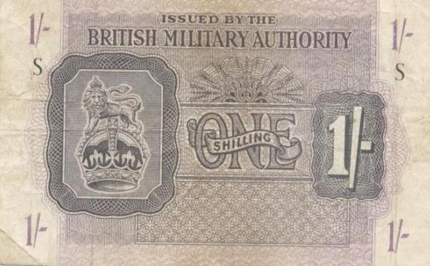 BAOR Bank Notes Baf1sh10