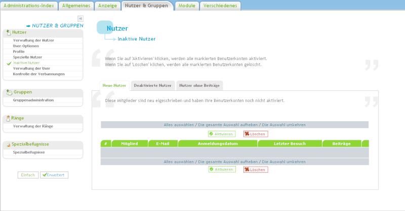 email neuer User - User ist nicht in Mitgliederliste?? Rockst11