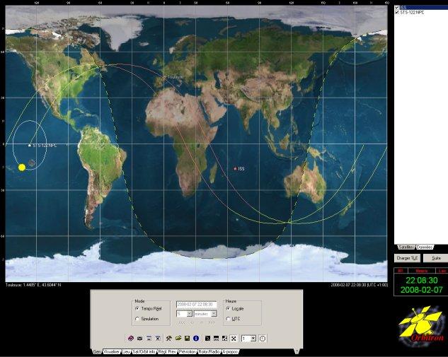 Logiciels de prédiction des positions de satellites Orbitr10
