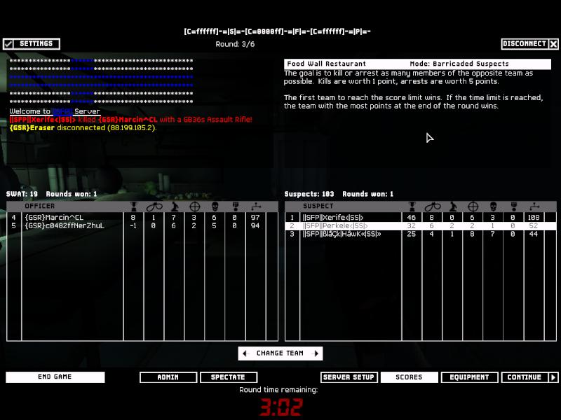 SFP VS GSR 31.12.07 Result 2-0 Won Swat4-11