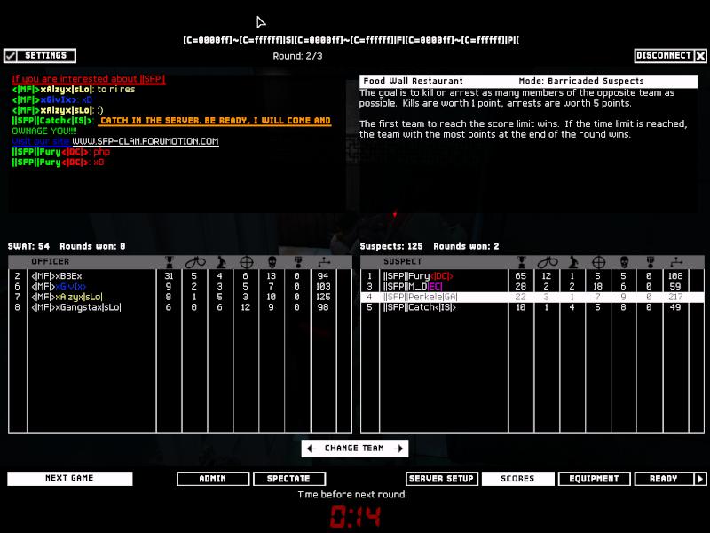 ||SFP|| VS MF (SLO) 6.2.08 Result won 2-0 Swat4-13