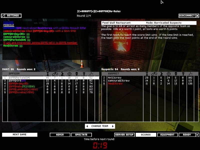 SFP vs 13Crew on 24-02-2008 Result: Won 2-0 Swat4-17