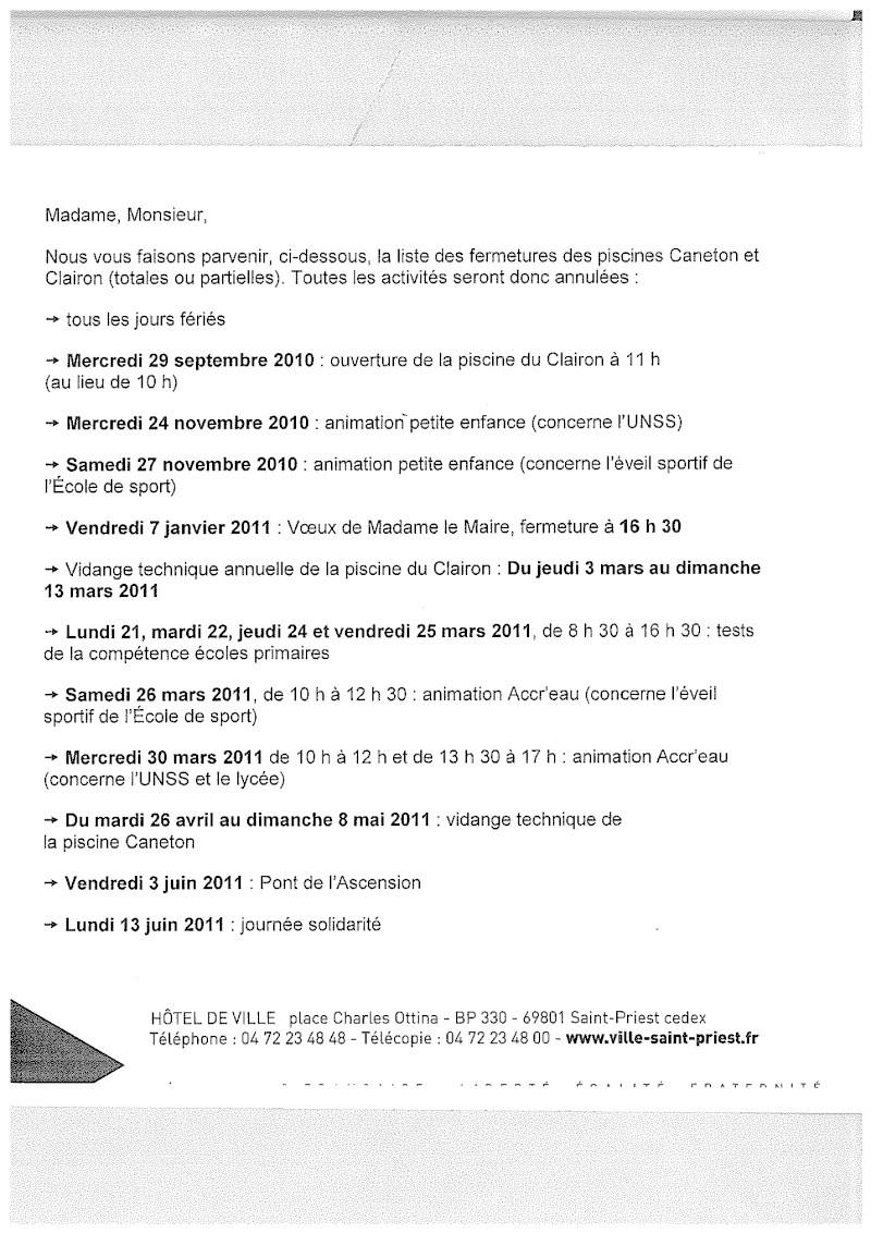 Dates fermeture piscine Clairon 2010-11 Dates_11