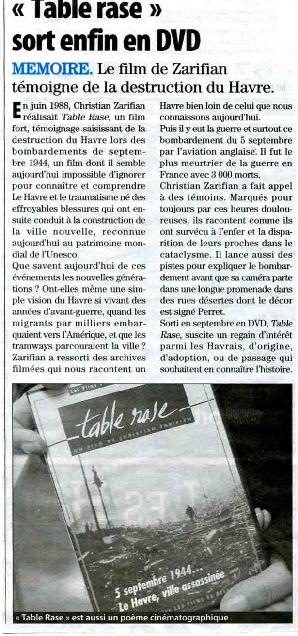 Le Havre - Table Rase de Zarifian Table_10