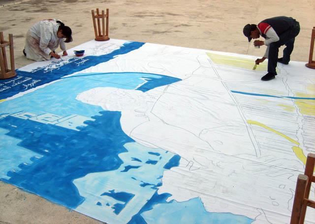 تحضيرات تظاهرة ساحات تنسج.. في القيروان 2008 (isamk) Aff80212