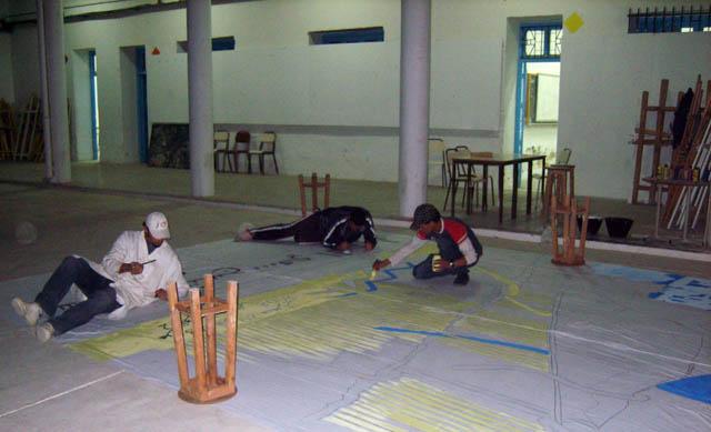 تحضيرات تظاهرة ساحات تنسج.. في القيروان 2008 (isamk) Aff80220