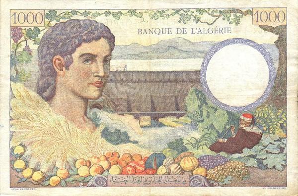 Emissions d'Algérie en billet avant 1962 P8610