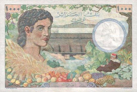 Emissions d'Algérie en billet avant 1962 Tunisi14