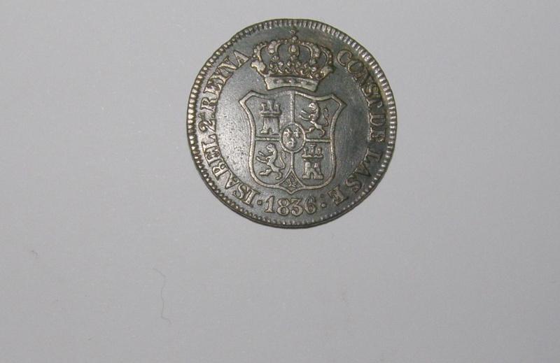 3 Cuartos de Isabel II (Barcelona, 1836 d.C) P1030911