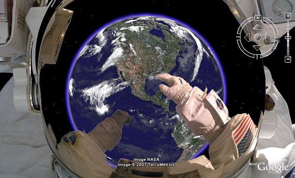 Scaphandre d'un cosmonaute sur GE. Astron10
