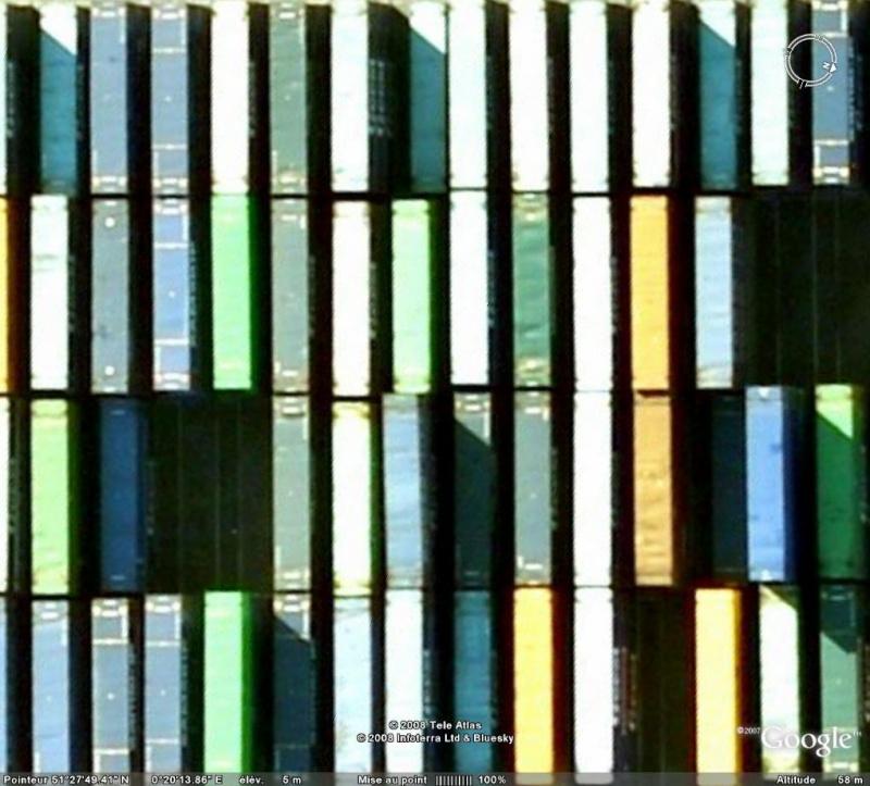 Les objets familiers vus sur Google Earth : écrous - tapis - planche... & caetera Classe10