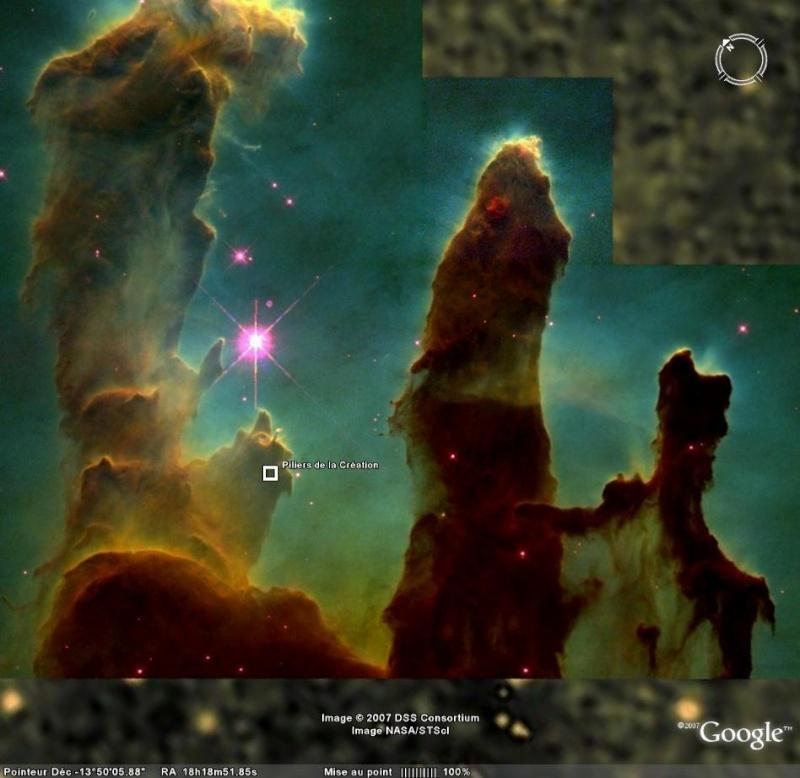 Vues remarquables dans Google Sky Pilier10