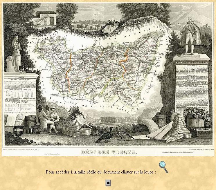 Cartes et plans anciens. Vosges10