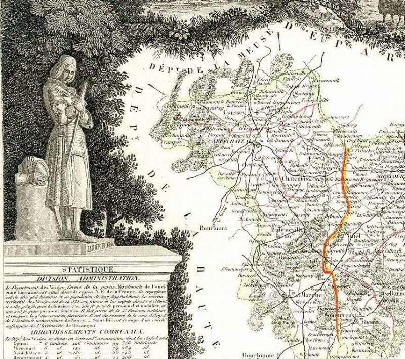 Cartes et plans anciens. Vosges12