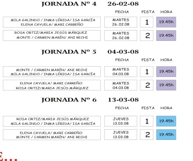 EMPIEZA LA LIGA+40. GRUPO FEMENINO. JORNADA,PISTA Y HORA Copia_29