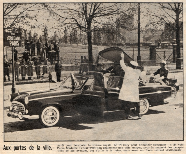 Visite royale - avril 1957 Reine_11