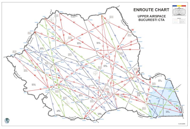 Puncte de navigatie aeriana in Romania (waypoints) Romats10