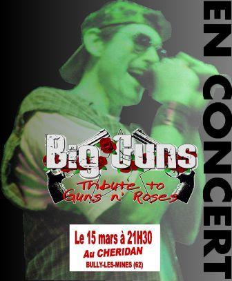 Tribute Guns N' Roses par Big Guns Affich10