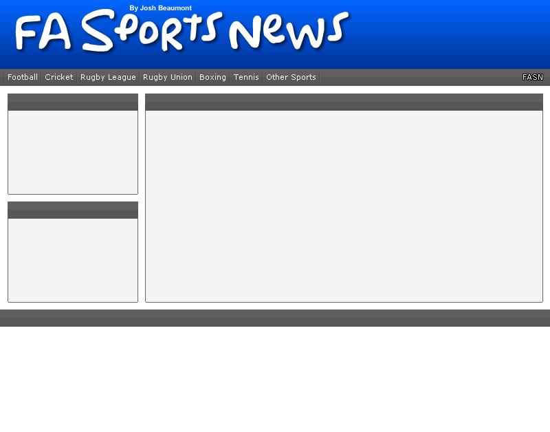 FA Sports News-Coming soon! Screen10