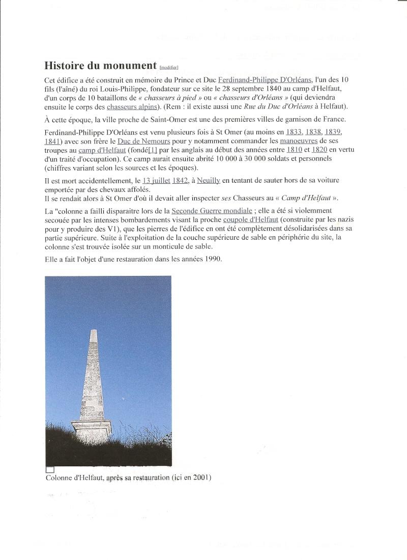 Colonne d'Helfaut érigée à la mémoire du Duc d'Orléans Colonn10