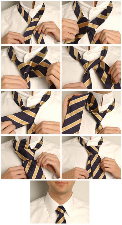 Завязывания галстука: наглядные способы (фото и видео). G311