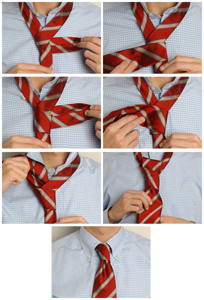 Завязывания галстука: наглядные способы (фото и видео). G611