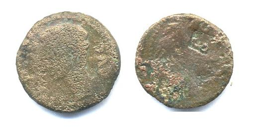 As de Augusto (COLONIA...) con contramarca Ma10