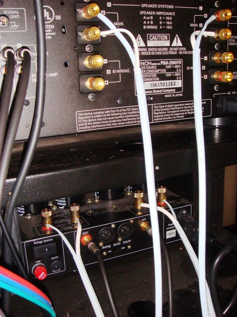 Bi-amplificação das colunas frontais Pma20012