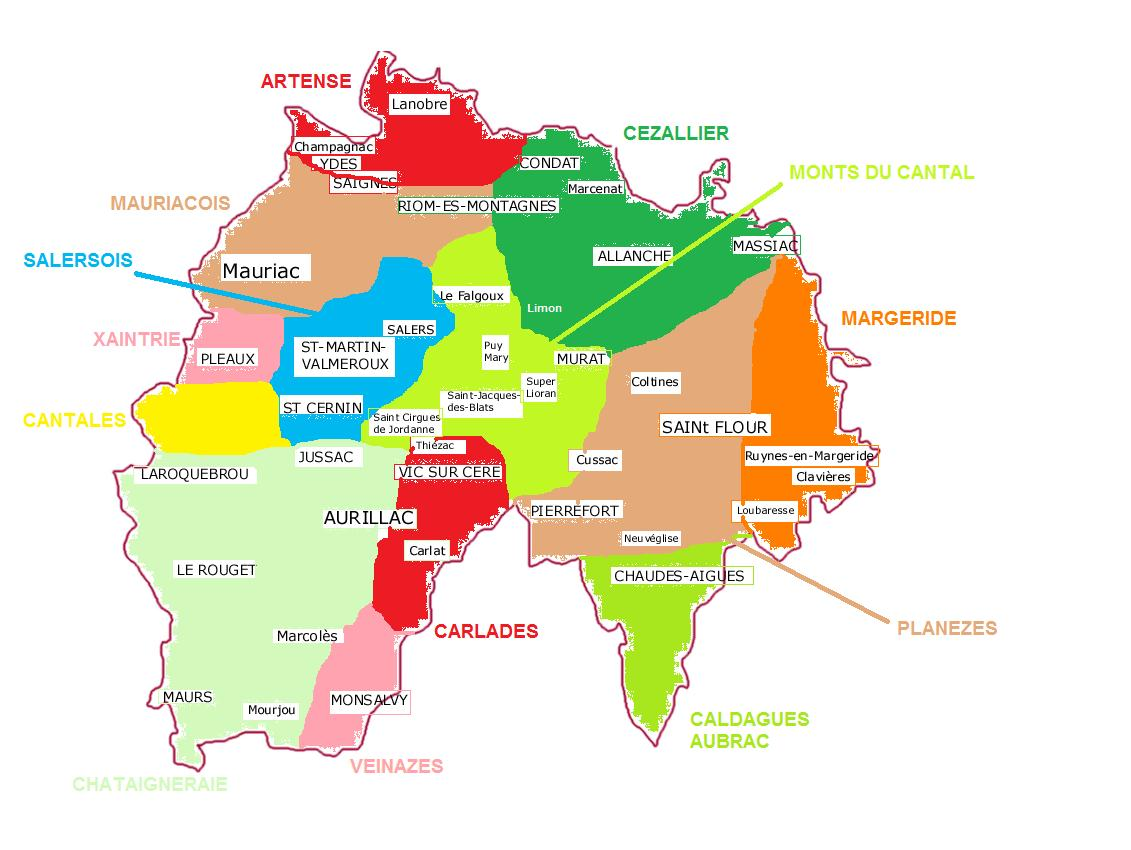 Les pays du Cantal Carte-10