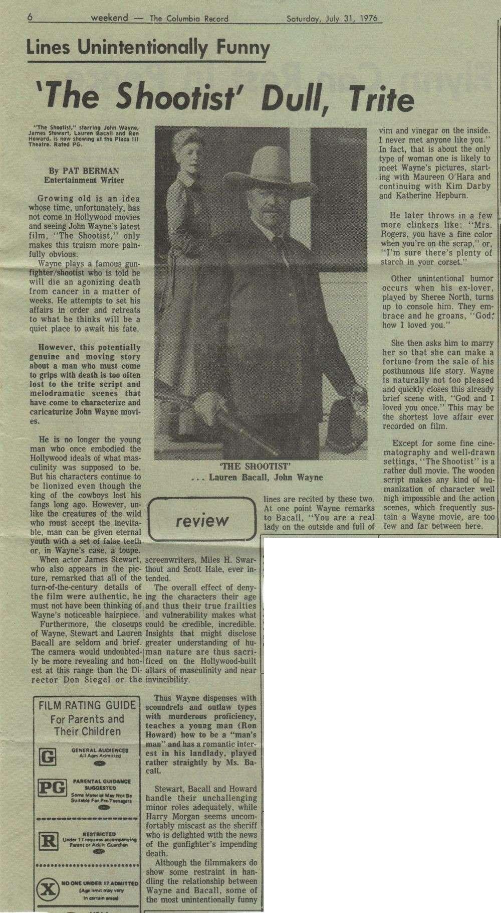 Le dernier des géants - The Shootist - 1977 Duke_c81