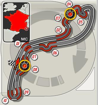 6:GP de Mónaco (Circuit de Monaco) 210