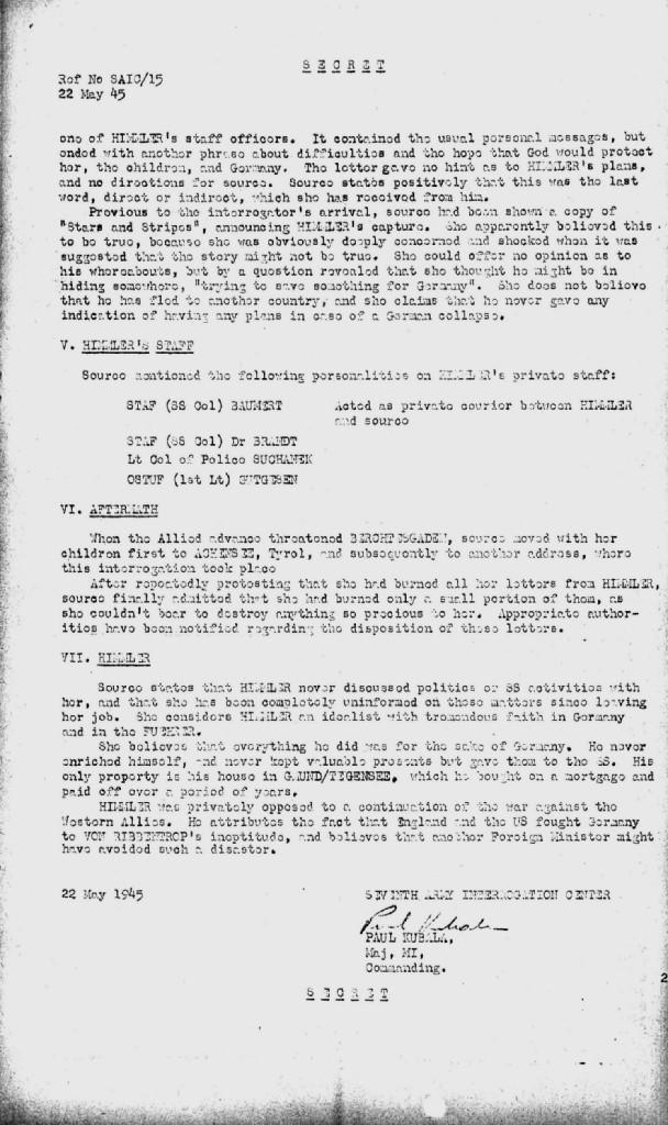 Hedwig Potthast, maîtresse d'Himmler: infos fragmentaires... 210