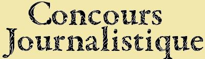 Concours Journalistique Concou11