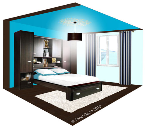 Best Chambre Marron Turquoise Gallery - House Design - marcomilone.com