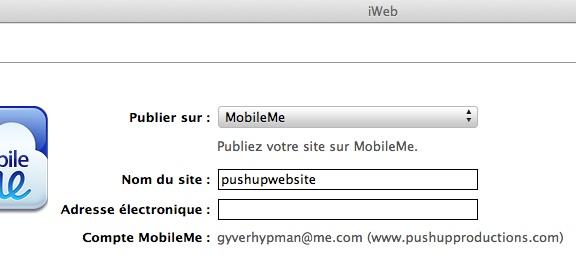 Relier Nom de Domaine à MobilMe Alamen10