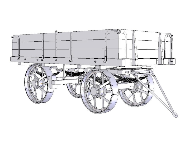 "4"" Scale Traction Wagon to suit Road Loco / Showman's Engine Wagon_12"