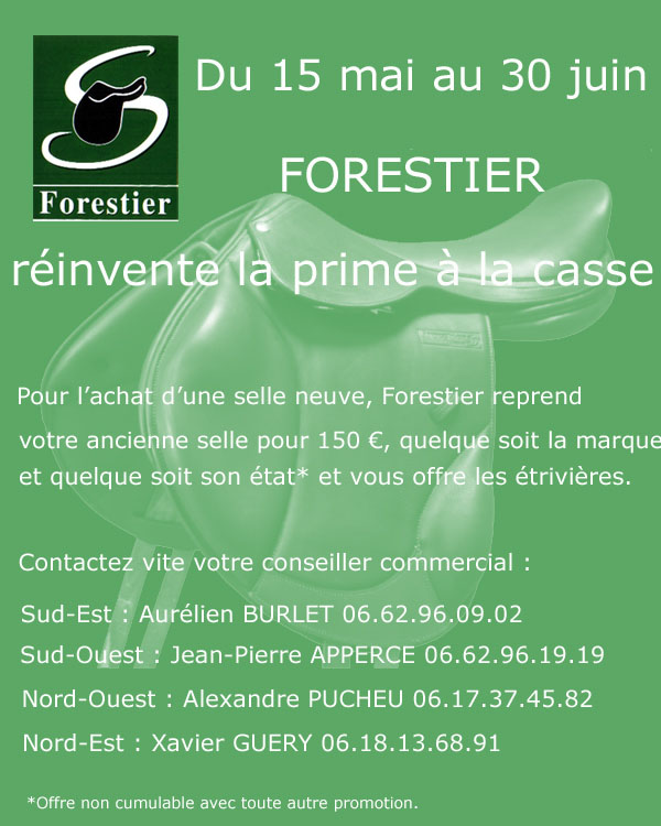 promo selle forestier Forest10