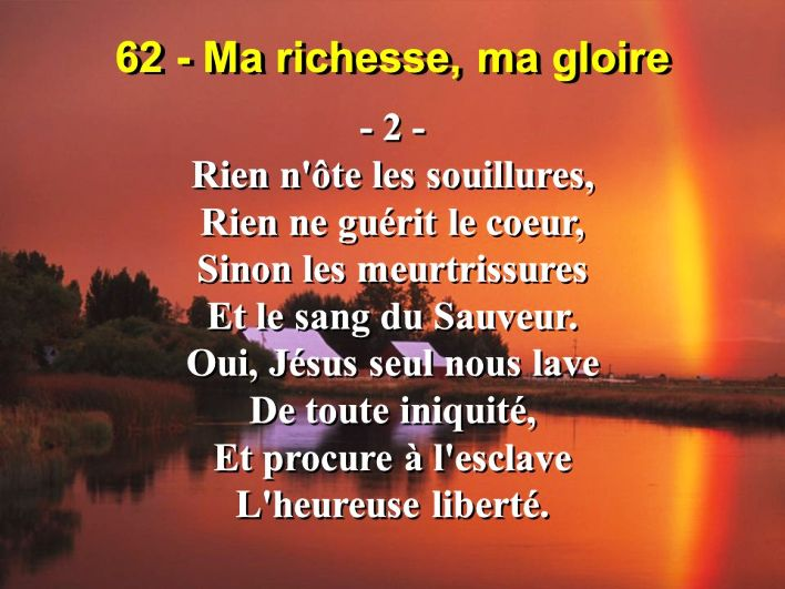 Notre espérance en Christ pour l'avenir est le motif et la base de notre joie sur la terre. Sangri12