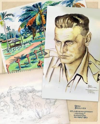 Tot 6 januari 2019: Krijgsgevangenen in Changi door de ogen van tekenaar Henk Brouwer 151