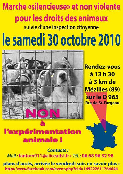 30.10.2010 : Marche silencieuse & non violente pour les droits des animaux Flyer10