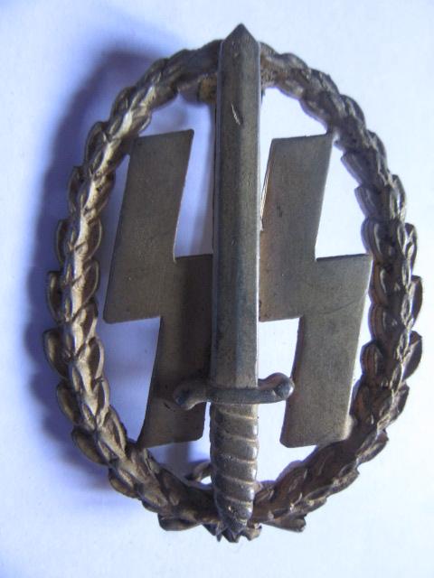 insigne des sports pour les Waffen hollandais mle doré Or_ave10