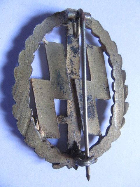 insigne des sports pour les Waffen hollandais mle doré Or_rev10
