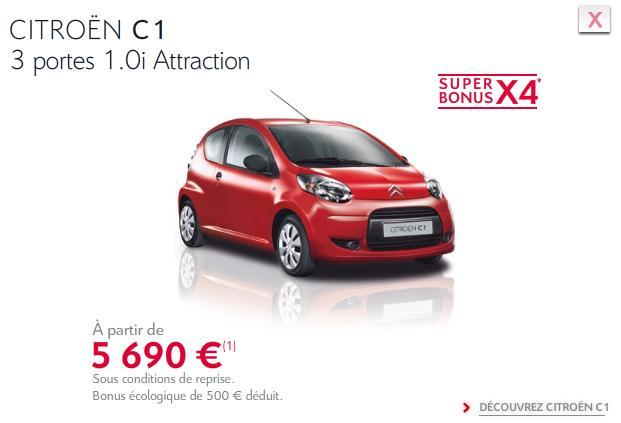 [ACTUALITE] Les promotions de Citroën - Page 3 C110