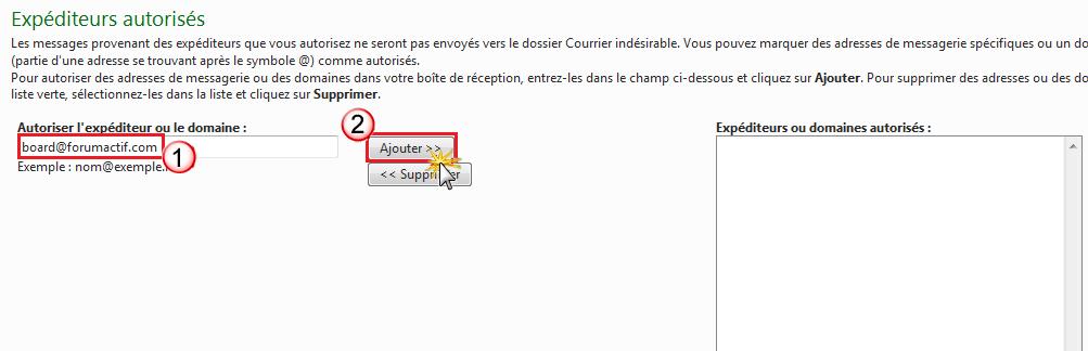 Problème de réception des notification par mail Exp_au11