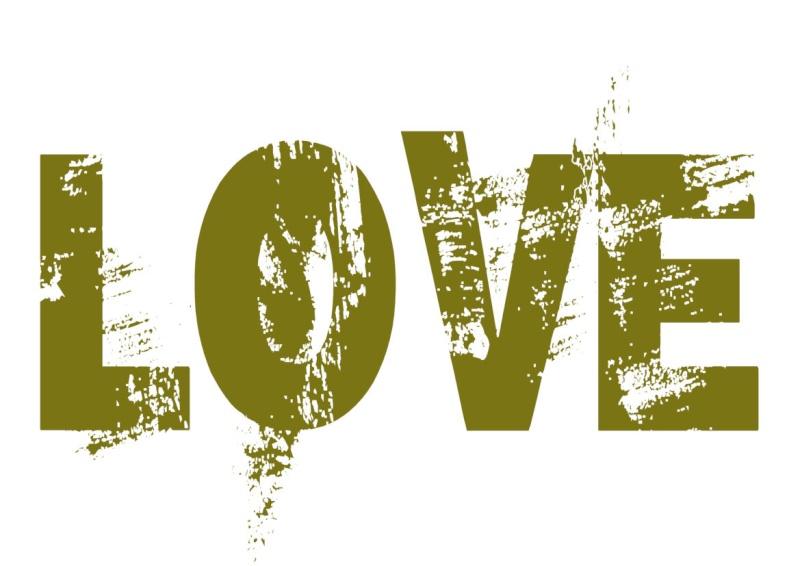 Pancartes LOVE en couleur Luv1010