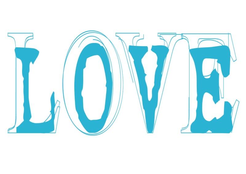 Pancartes LOVE en couleur Luv1110