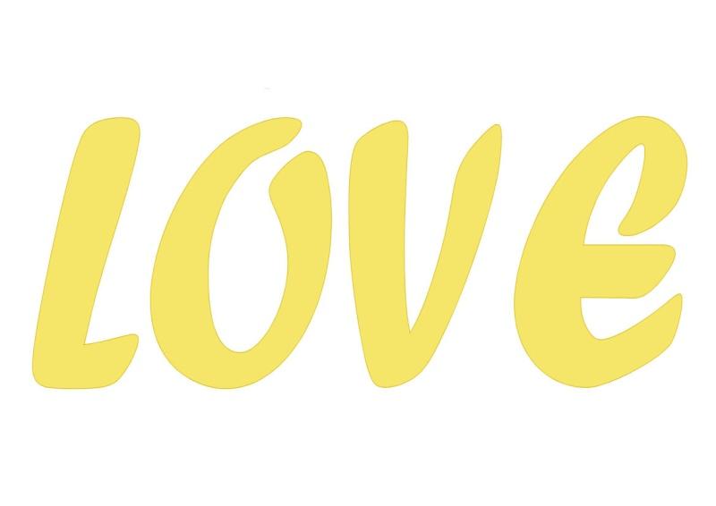 Pancartes LOVE en couleur Luv1210