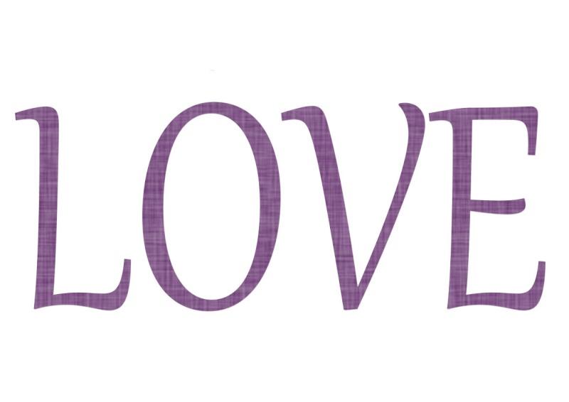 Pancartes LOVE en couleur Luv1310