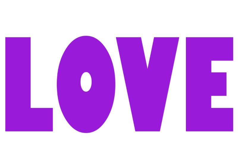 Pancartes LOVE en couleur Luv1410